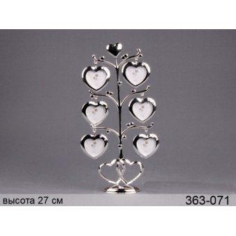 Фоторамка Сердце на 6 фотографий (363-071)