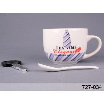 Большая кружка Tea Time с ложкой и мини-ручкой (727-034)