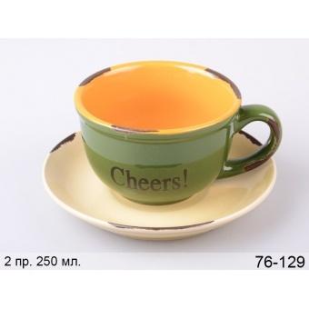 Чашка с блюдцем Счастье (76-129)