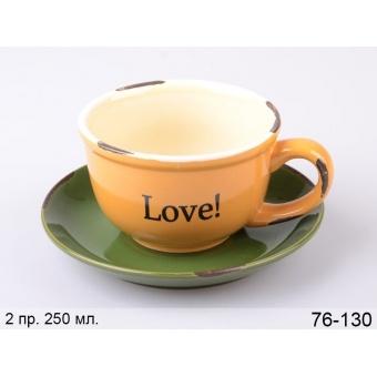 Чашка с блюдцем Любовь (76-130)