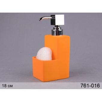 Дозатор для мыла с подставкой под губку (761-016)