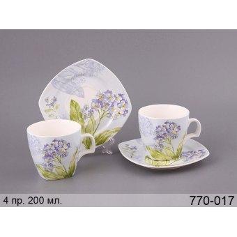 Чайный набор Гортензия, 4 пр. (770-017)