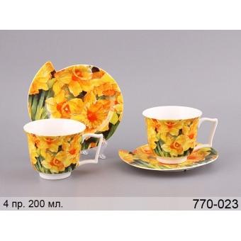 Чайный набор нарцисс, 4 пр. (770-023)