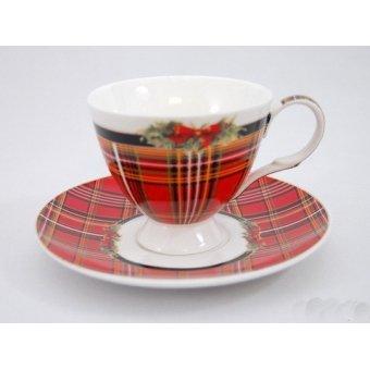 Чашка с блюдцем Рождество (82-741)