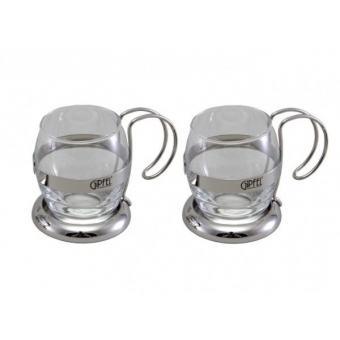 Набор чайных стеклянных кружек, 2 шт.