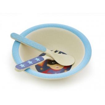 Детский набор посуды Супер-мальчик (8819)