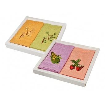 Набор кухоных полотенец сакура в асортименте, 2 шт. (907-146)