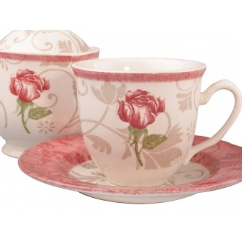 Чайный набор Damask Flower Pink, 14 пр. (910-084)