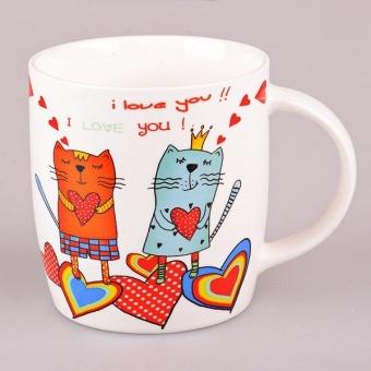 Кружка с котами I Love You (917-013)