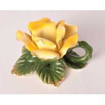 Подсвечник желтая роза (92-244-1)