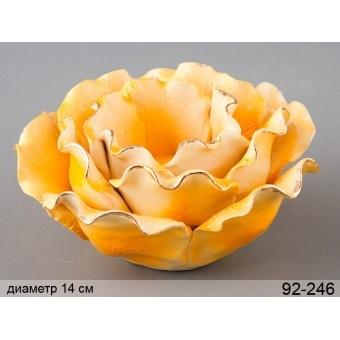 Подсвечник желтая роза (92-246)