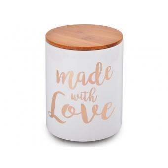 Банка для хранения с бамбуковой крышкой Made With Love (940-121)