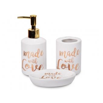 Набор для ванной комнаты Made With Love, 3 пр. ( 940-129)
