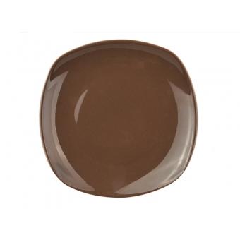 Тарелка призма коричнеая 19 см (942-038)