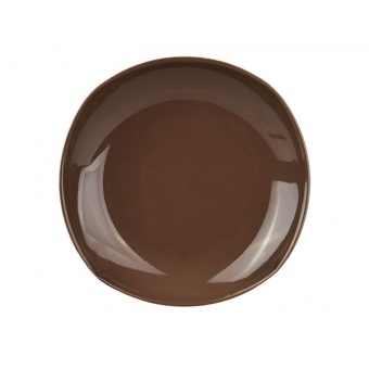 Тарелка глубокая призма коричнеая 20 см (942-041)