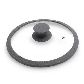 Крышка ARCADES 28 см с мраморным силиконовым ободком (GL-9984.28)