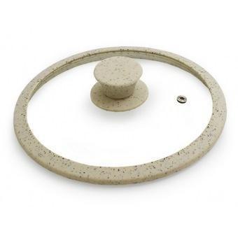 Крышка ARCADES 26 см с мраморным силиконовым ободком (GL-9987.26)