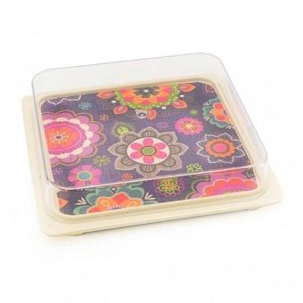 Бамбуковая тарелка с пластиковой крышкой для хранения PURPUR (AY-8954.16)