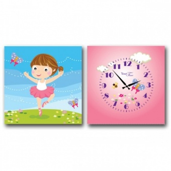 Часы на холсте Балерина (06-100)