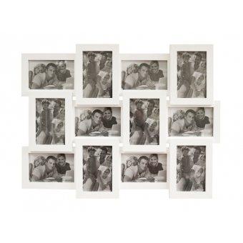 Мультирамка белая на 12 фотографий (БЕЛ-12)