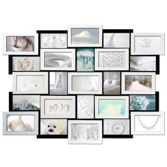 Мультирамка Белое на черном на 25 фотографий