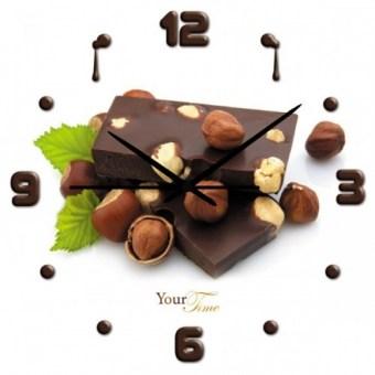 Часы настенные кухонные Фундук в шоколаде (01-079)