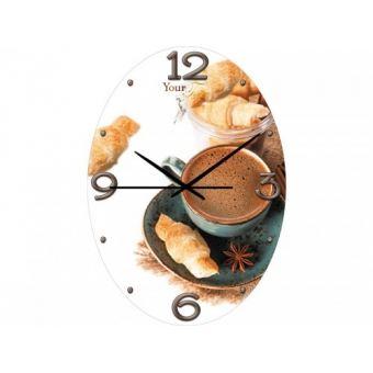 Часы настенные Кофе с круассаном (01-178)