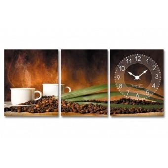 Часы на холсте Аромат кофе