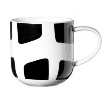 Чашка в подарочной упаковке COPPA Black&White (прямоугольники) (19104014)
