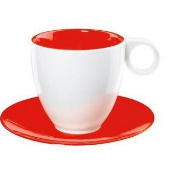 Чашка с блюдцем COLOR-IT красная (1281069)