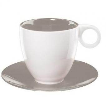 Чашка с блюдцем COLOR-IT серая (1281111)