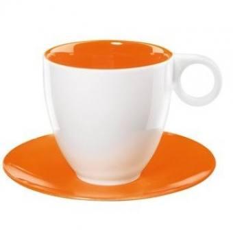 Чашка с блюдцем COLOR-IT оранжевая (1281807)