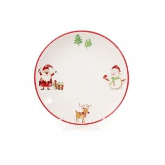Тарелка Веселый Санта (DM050-X)