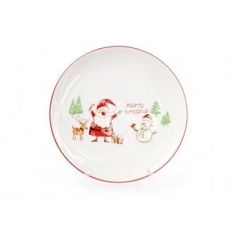 Тарелка Веселый Санта (DM052-X)