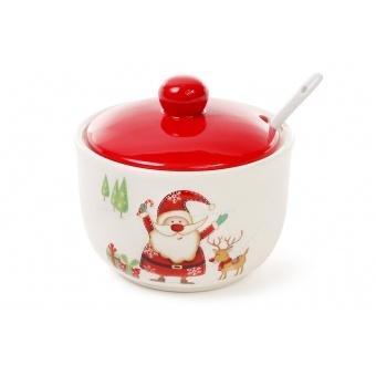 Сахарница Веселый Санта (DM059-X)