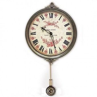 Настенные часы с маятником Цветы