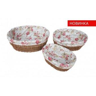 Комплект плетеных корзин Розы, 3 шт. (FG-11)