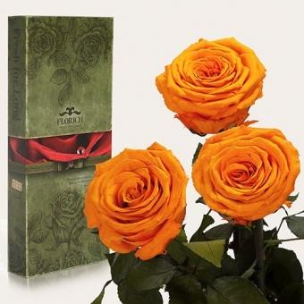 Три долгосвежих розы Оранжевый цитрин 7 карат (1327-OR01)