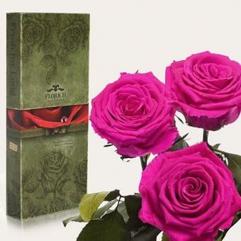 Три долгосвежих розы Малиновый родолит 7 карат