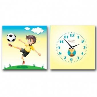 Часы на холсте Футболист (06-116)