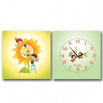 Часы на холсте Лучшие друзья (06-113)