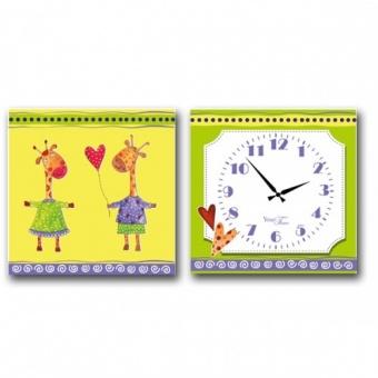 Часы на холсте Жирафы (06-101)