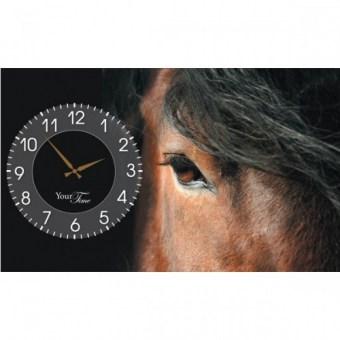 Часы на холсте Лошади (06-210)