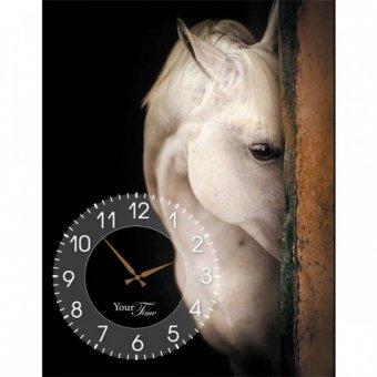 Часы на холсте Лошади (06-206)