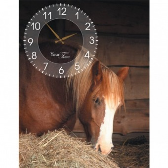 Часы на холсте Лошади (06-211)