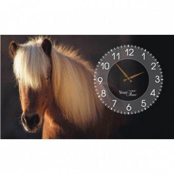 Часы на холсте Лошади (06-209)