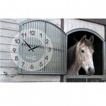 Часы на холсте Лошади (06-200)