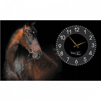 Часы на холсте Лошади (06-202)