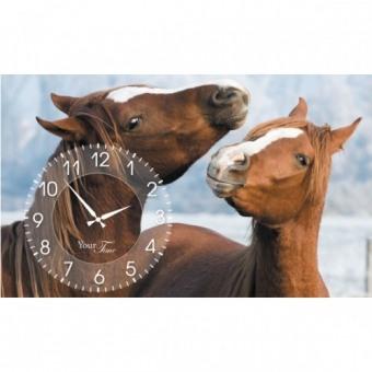 Часы на холсте Лошади (06-207)