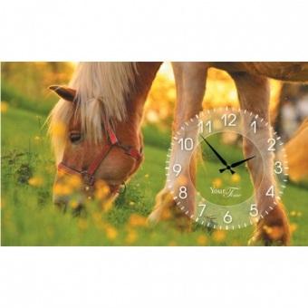 Часы на холсте Лошади (06-205)